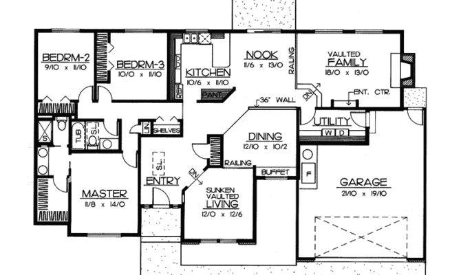 Dunleith Mill Modern Ranch Home Plan House Plans More