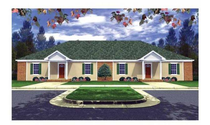 Duplex Bungalow Design Hwbdo Multi House Plan