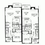 Duplex Floor Plans Narrow Eplans Colonial House Plan Super
