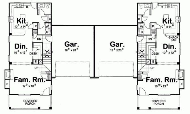 Duplex Floor Plans Narrow Eplans Country House Plan Lot