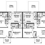 Duplex Home Plans One Story Multi House Plan