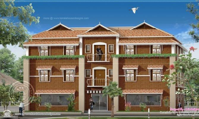 Duplex House Elevation Design Kerala Home Floor