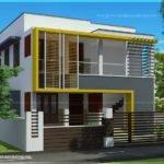 Duplex House Elevation Feet Each Kerala Home