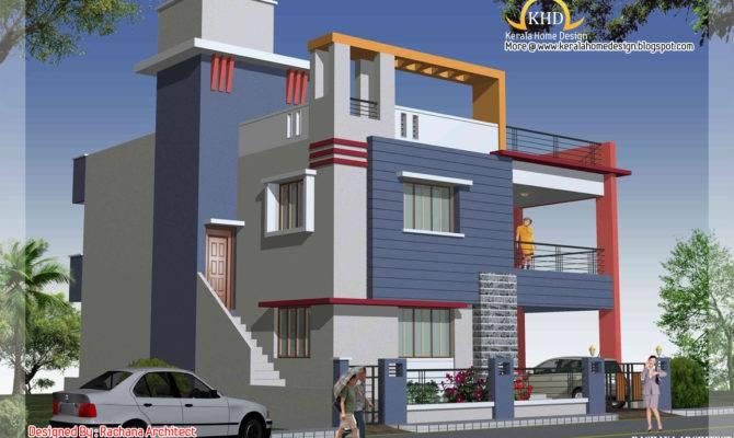 Duplex House Plan Elevation Indian