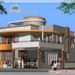 Duplex House Plan Elevation Kerala Home Design Floor Plans