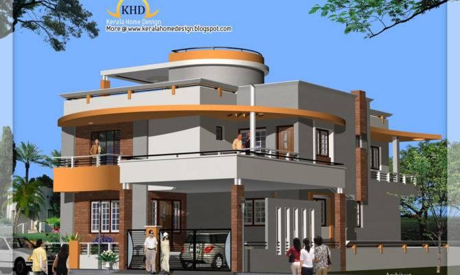 Duplex House Plan Elevation Kerala Home Design