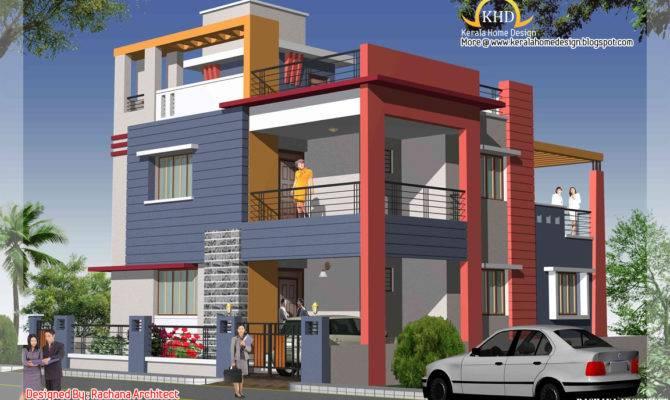 Duplex House Plan Elevation Kerala