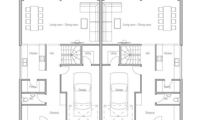 Duplex House Plan Modern Architecture