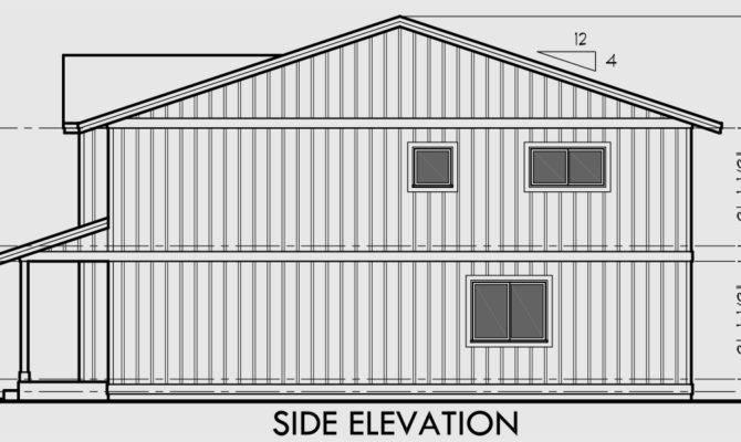 Duplex House Plan Row Open Floor