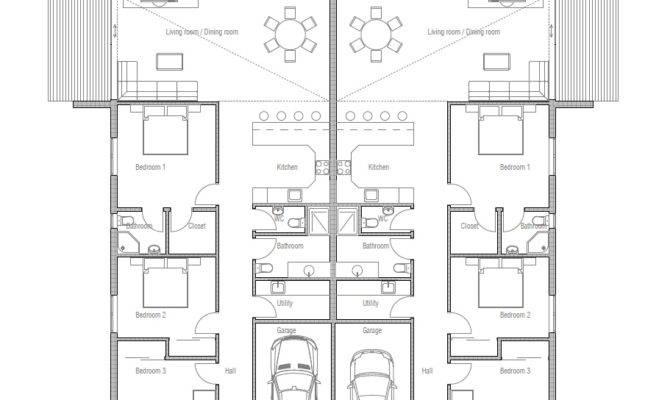 Duplex House Plan Two Families