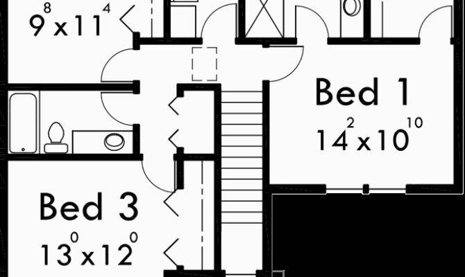 Duplex House Plans Bedroom Story