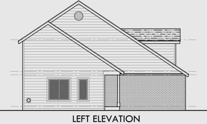 Duplex House Plans Bedroom Two Story Dupex