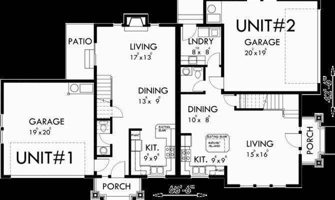 Duplex House Plans Corner Lot