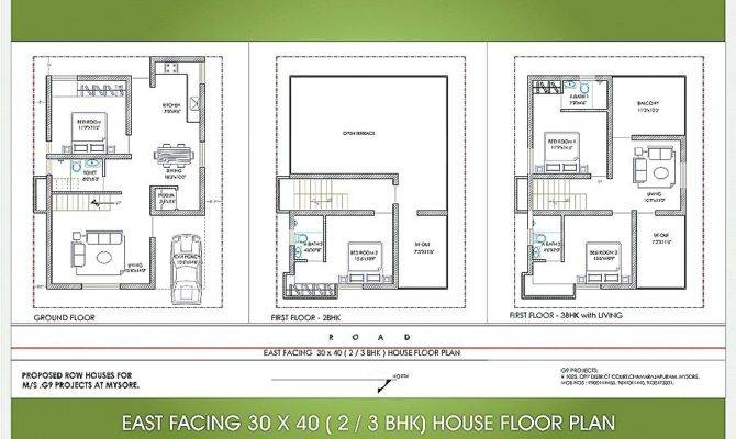 Duplex House Plans East Facing