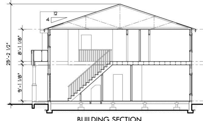 Duplex House Plans Sections Elevations