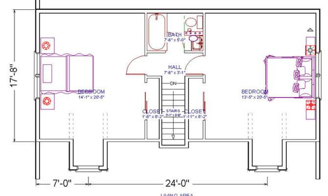 Duplex Plans Bedroom Bath Joy Studio Design Best