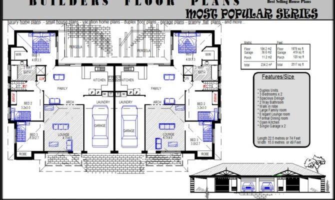 Duplex Plans House
