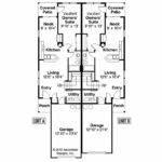Duplex Plans Narrow Lots Elevation House