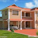 Duplex Sloping Roof House Kerala Home