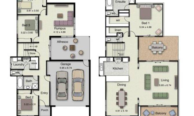 Duplex Small House Design Floor Plans Bedrooms