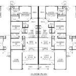 Duplex Triplex House Floor Plans Apartment Blueprints