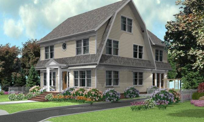Dutch Colonial Home Designs Over House Plans