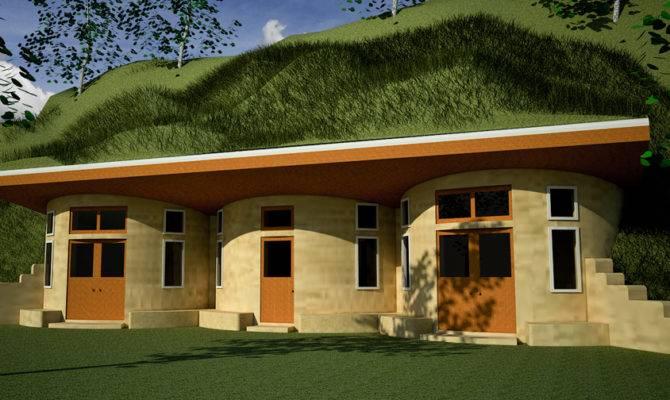 Earth Sheltered Earthbag House Plans