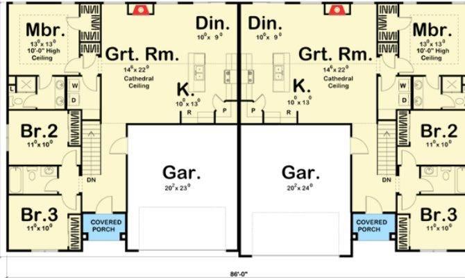 Easy Build Duplex House Plan Architectural