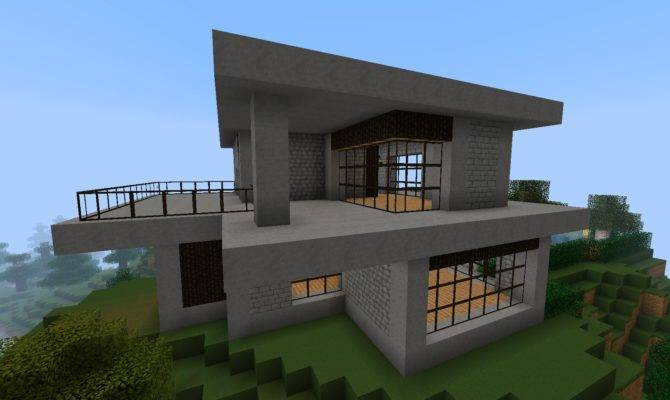 minecraft house ideas simple modern
