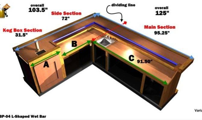 Ehbp Shaped Wet Bar Easy Home Plans