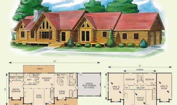Elegant Bedroom Log Cabin Floor Plans New Home
