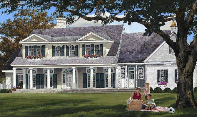 Elegant Country Home Plan Architectural