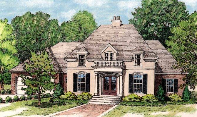 Elegant French Country Home Plan Architectural