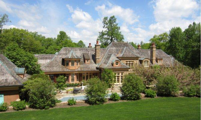 Elegant French Country Mansion Mendham Homes