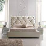 Elegant Leather High End Platform Bed Led Light