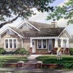 Elevation Bungalow Craftsman House Plan