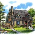 Elevation Cabin Cape Cod Country House Plan Love Deck