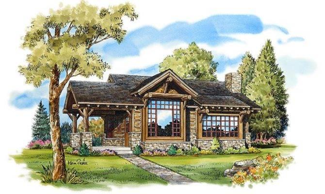 Elevation Cabin Cottage Craftsman House Plan