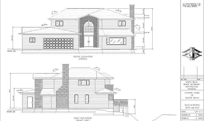 Elevation Civil Plan Section Drawings Layout Drawingchennai Apps