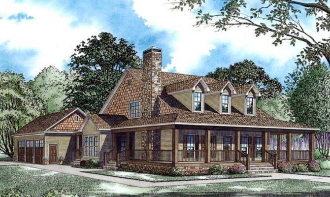 Elevation Country Farmhouse House Plan