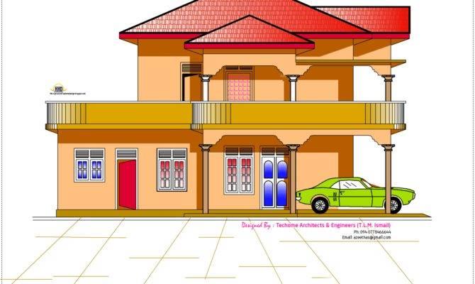 Elevation Floor Plan Feet Kerala Home