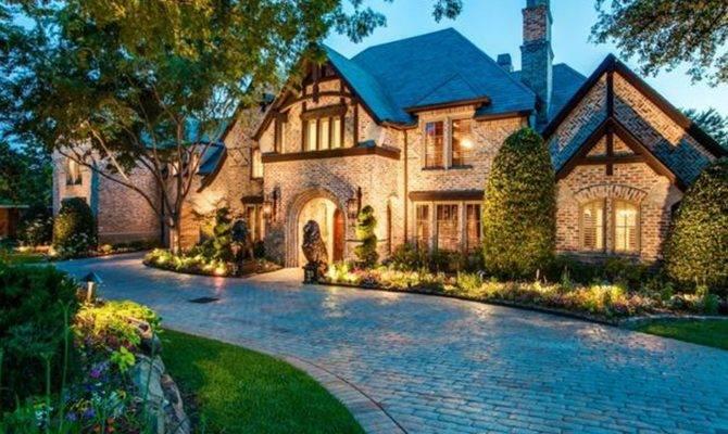 English Tudor Style Brick Mansion Frisco Homes