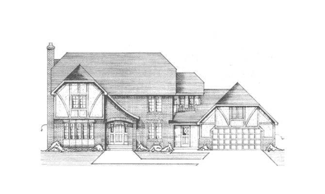 English Tutor House Plans Floor