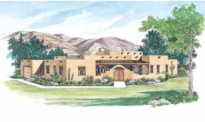 Eplans Adobe House Plan Expansive Great Room Square Feet