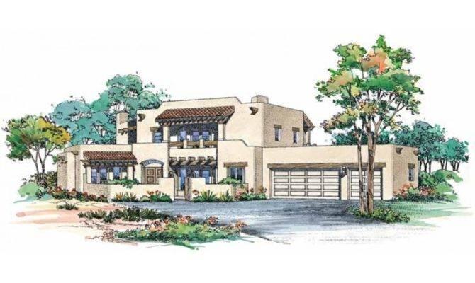 Eplans Adobe House Plan Two Story Santa Square Feet