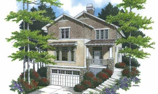 Eplans Bungalow House Plan Fine Hillside Home Square Feet