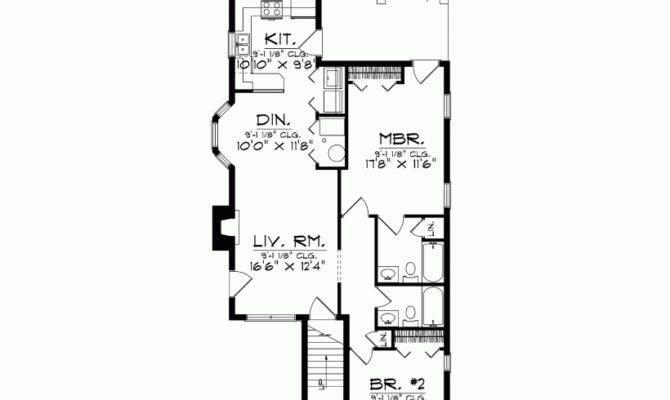 Eplans Colonial House Plan Narrow Lot Duplex Square Feet
