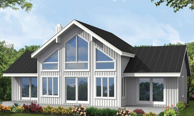Eplans Contemporary Modern House Plan Vacation Cabin Dual