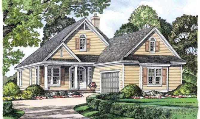 Eplans Cottage House Plan Big Living Narrow Lot Square