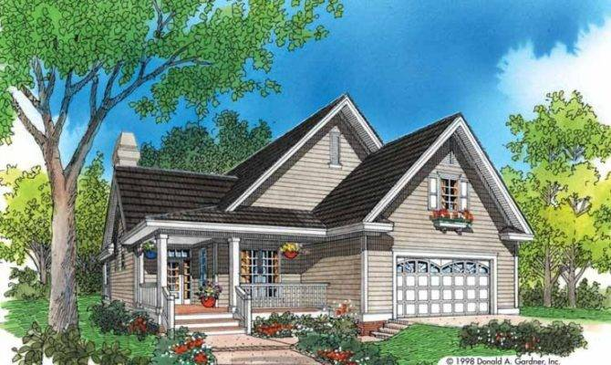 Eplans Cottage House Plan Modest Spaciousness Square Feet